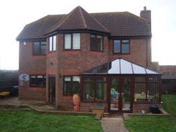 two storey hexagon + conservatory